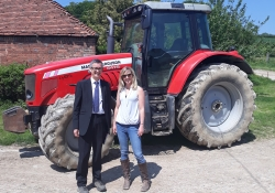 Head of CPRE visits High Weald farms