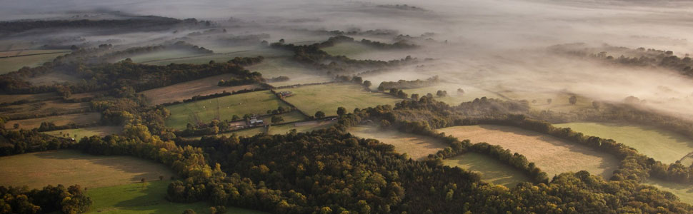 landscape aerial sussex weald