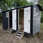 Camping huts at Bodiam, Sussex